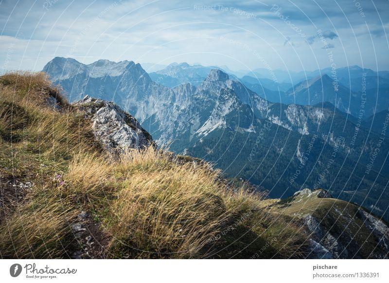 Xeis Im Herbst Landschaft Berge u. Gebirge Gipfel blau Abenteuer Natur Umwelt Umweltschutz Nationalpark Gesäuse Österreich Farbfoto Außenaufnahme Menschenleer