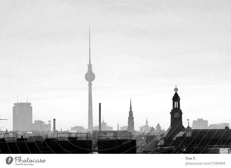Berlin Stadt Ferne Skyline Wahrzeichen Hauptstadt Stadtzentrum Sehenswürdigkeit Altstadt Identität Fernsehturm Mittelpunkt