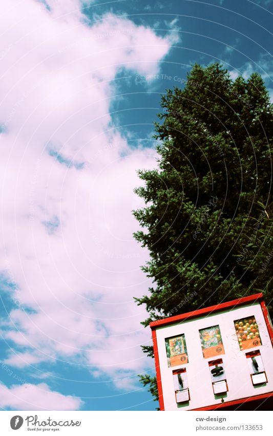SÜSSES, SONST GIBTS SAURES Alltagsfotografie Wolkenhimmel Kaugummiautomat