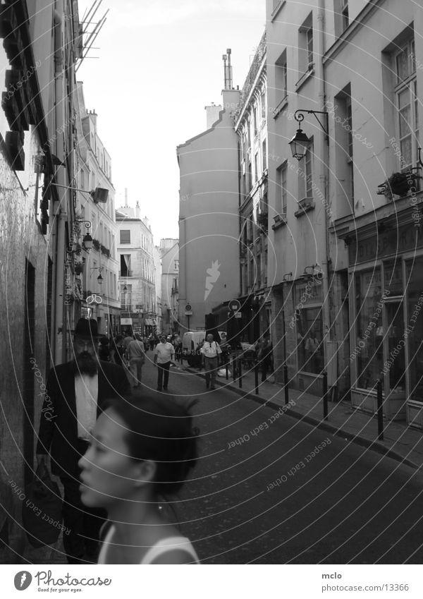 Inside Paris 2 Jüdisches Viertel Ladengeschäft Europa Schwarzweißfoto Straße Architektur
