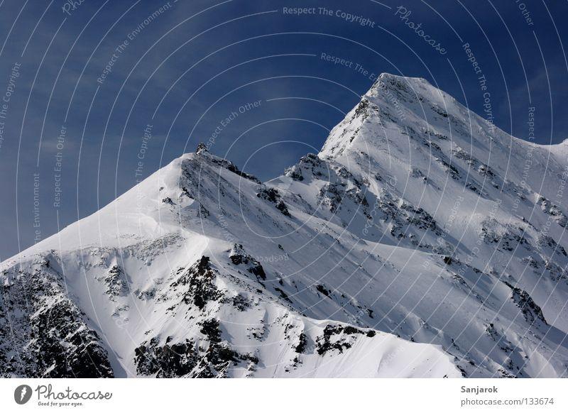 """Der Berg ruft (""""Jollerijohidüüüü!"""") Winter Schnee Berge u. Gebirge Gipfel Österreich Blauer Himmel Großglockner Hochgebirge Schneebedeckte Gipfel"""
