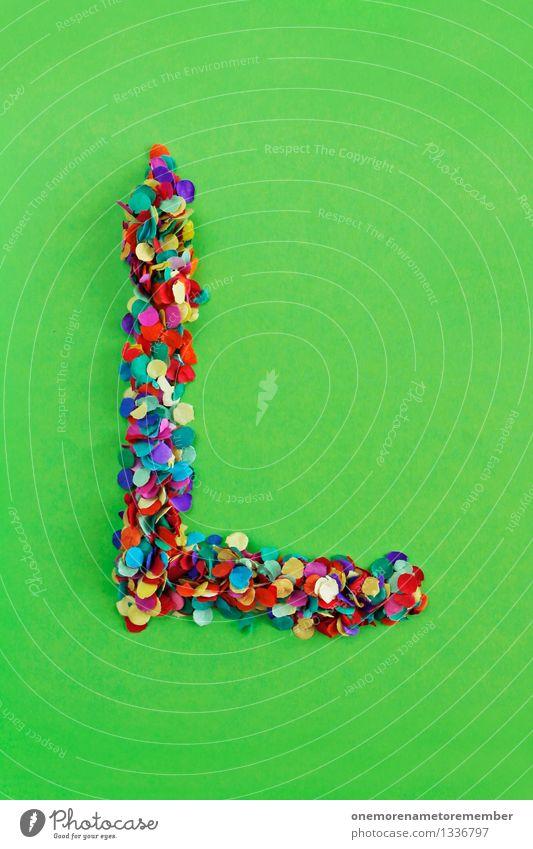 L Kunst Kunstwerk ästhetisch l Buchstaben Typographie alphabetisch Konfetti Kreativität Design Idee gebastelt Mosaik Farbfoto mehrfarbig Innenaufnahme