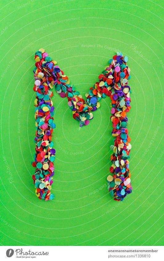 M Kunst Kunstwerk ästhetisch Buchstaben alphabetisch Konfetti Typographie viele Punkt Mosaik Farbfoto mehrfarbig Innenaufnahme Experiment abstrakt Menschenleer