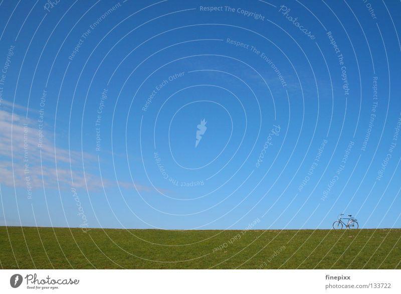 Lange Pause...! Himmel Ferien & Urlaub & Reisen blau grün Sommer weiß Erholung Einsamkeit ruhig Wolken Freude Ferne Wärme Wiese Gras Wege & Pfade