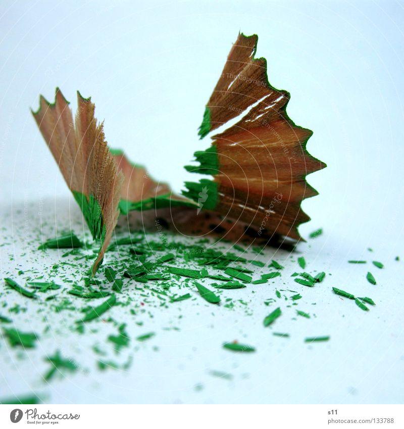 FarbStiftKringel grün Farbe Holz Kunst Kindheit Arbeit & Erwerbstätigkeit Wellen Freizeit & Hobby elegant Papier Tisch Kreis Dekoration & Verzierung Spitze