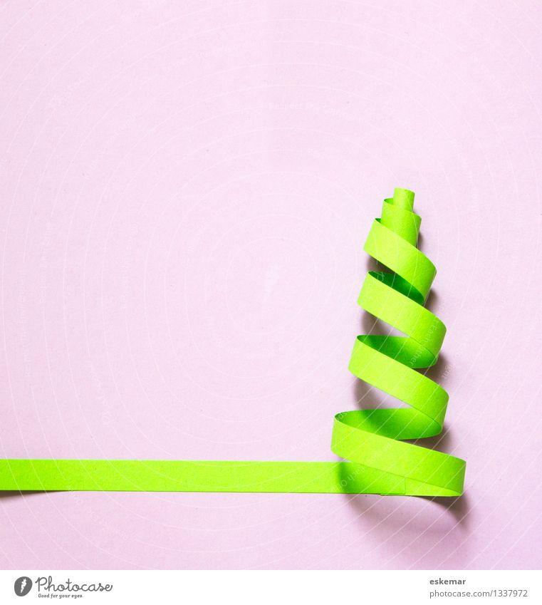 Weihnachten! Feste & Feiern Weihnachten & Advent Weihnachtsbaum Postkarte Schreibwaren Papier ästhetisch einfach Fröhlichkeit lustig modern grün rosa Design