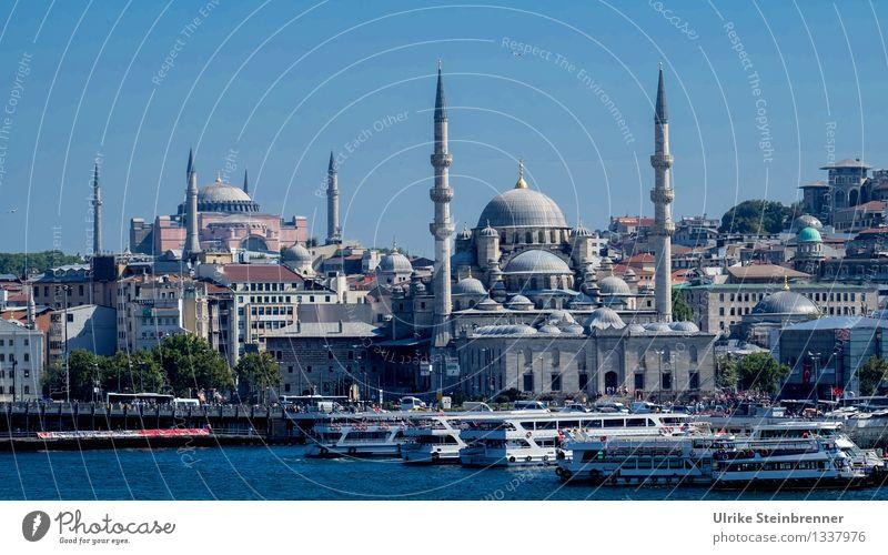 Minarette 4 Ferien & Urlaub & Reisen Tourismus Sightseeing Städtereise Istanbul Türkei Stadtzentrum Bauwerk Gebäude Architektur Moschee Turm Sehenswürdigkeit