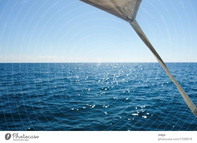 Mehr Meer. So weit das Auge reicht. Ferien & Urlaub & Reisen blau Sommer Wasser Sonne Landschaft Ferne Wärme Freiheit Lifestyle Horizont Zufriedenheit
