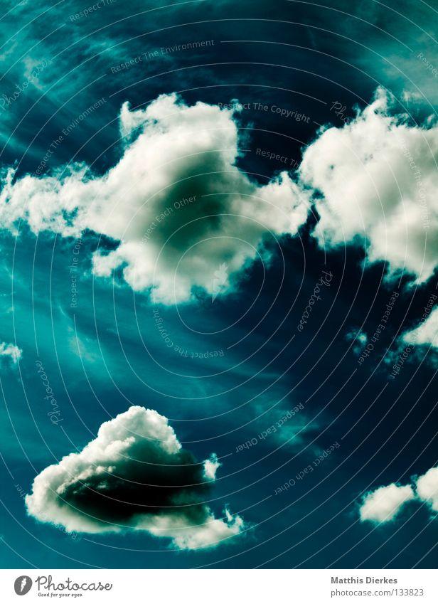 Wolkenmeer II Himmel weiß Meer grün blau Sommer Ferne Frühling Freiheit Regen Religion & Glaube Hintergrundbild Wind Wetter Aussicht