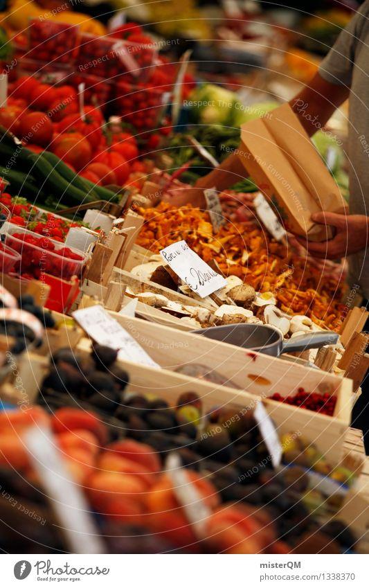 Wochenmarkt I Kunst Frucht Zufriedenheit ästhetisch kaufen viele Handel Pilz Marktplatz Vielfältig Angebot vielseitig Markttag