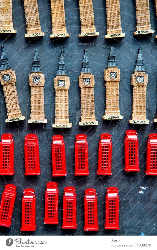 Ferien & Urlaub & Reisen alt Farbe rot schwarz sprechen Business Design Tourismus Europa retro Kultur Telefon Symbole & Metaphern Kunststoff Hütte