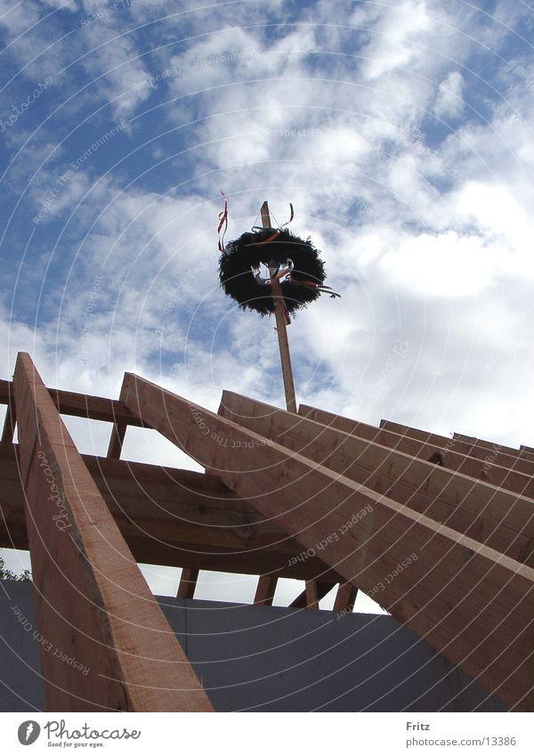 beck-motiv-24 Architektur Dach bauen Kranz Richtfest