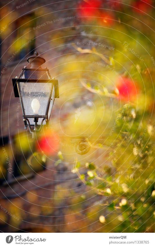 Licht an Grün. grün Kunst Zufriedenheit ästhetisch Italien Straßenbeleuchtung Laterne Italienisch Grossstadtromantik