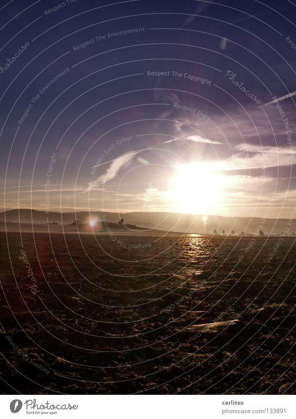 Südniedersächsische Scholle blau Sonne ruhig Landschaft kalt Wärme Glück Erde Zufriedenheit Kraft Feld Energiewirtschaft groß Treppe Brand Aktion