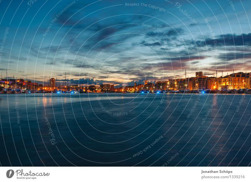 Le Vieux Port de Marseille IV Frankreich Hafenstadt Altstadt außergewöhnlich Bewegung Hafencity Langzeitbelichtung Mittelmeer Himmel Wasser Wolken blau Stimmung