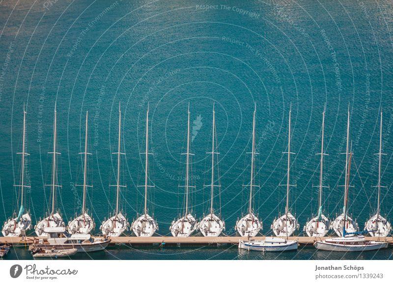 Îles de Marseille XV Ferien & Urlaub & Reisen blau Sommer Wasser Landschaft Meer Erholung Küste Wasserfahrzeug Zufriedenheit Insel genießen Schönes Wetter