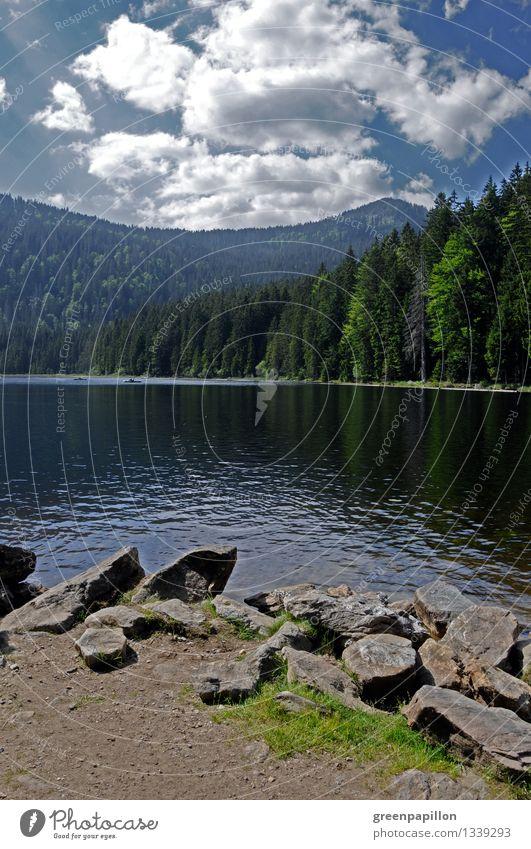 Berg-See-Himmel-Kontraste Arbersee Ferien & Urlaub & Reisen Tourismus Ausflug Sommerurlaub Bayerischer Wald Fahrradfahren wandern Natur Landschaft Wasser