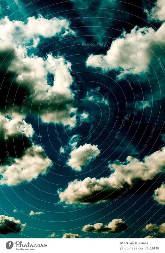Wolkenmeer III Himmel blau grün Sommer weiß Meer Wolken Ferne Frühling Hintergrundbild Freiheit Regen Wetter Wind Aussicht Unendlichkeit