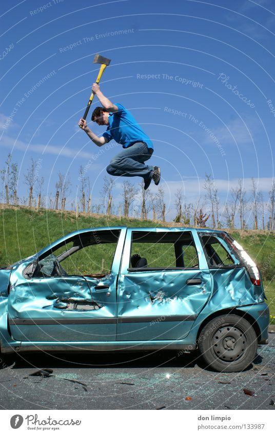 crash kid Mensch PKW trashig Langeweile Zerstörung Unsinn Digitalfotografie KFZ Humor