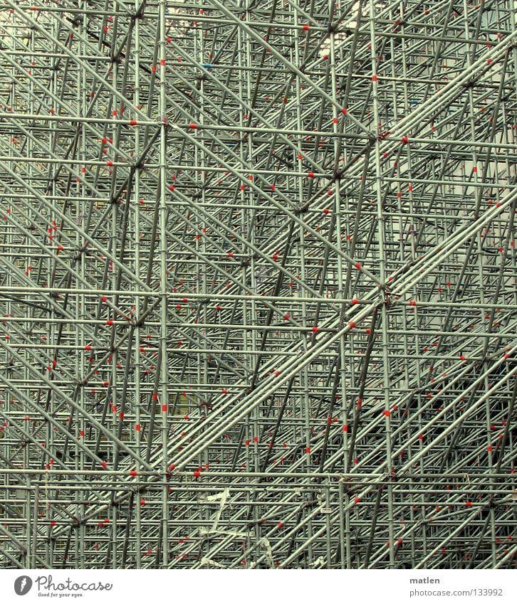 Atomium Stahl Plakatwand Konstruktion Detailaufnahme Baugerüst Mitte mega Rückwand