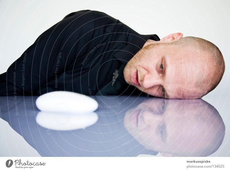 what the hell schön weiß Gesicht schwarz Computer Business planen Design Technik & Technologie Verbindung Hemd Computermaus Krawatte verbinden Gerät erstaunt