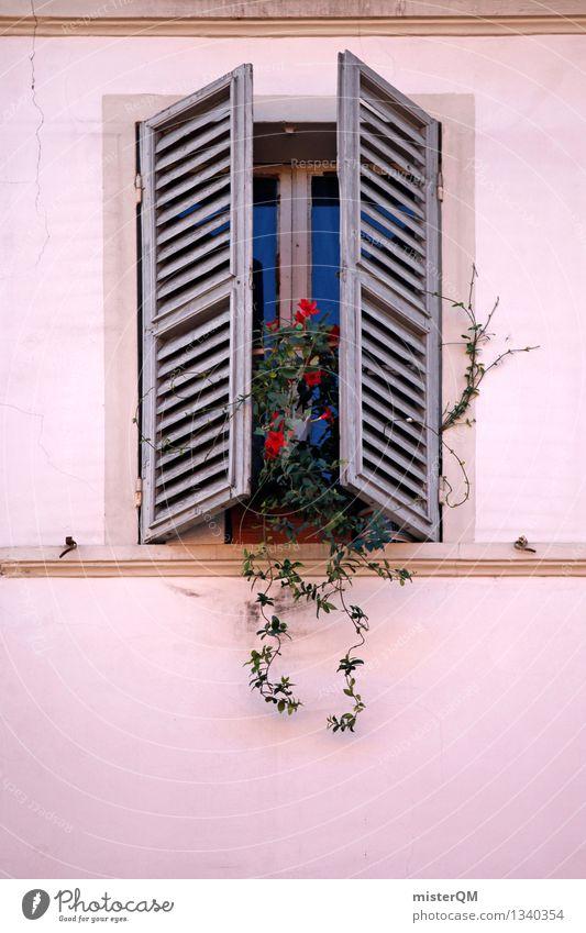 finestra VI Kleinstadt ästhetisch Fenster Fensterscheibe Fensterladen Fensterbrett Fensterblick Fensterkreuz Fensterfront Fensterrahmen Farbfoto Gedeckte Farben