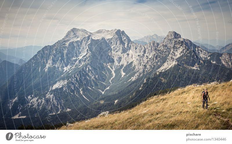 Wanderlust Mensch Natur Ferien & Urlaub & Reisen Landschaft Berge u. Gebirge feminin Freizeit & Hobby Tourismus wandern Ausflug Abenteuer Gipfel Österreich