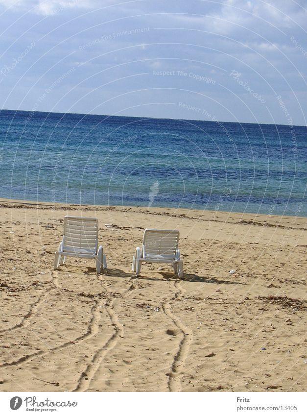 schöne-aussicht Pause Meer Strand Liegestuhl Einsamkeit