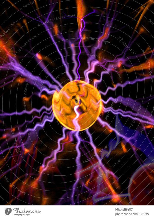 Kugelblitze 2 Natur blau Energiewirtschaft Elektrizität Technik & Technologie Blitze Konzentration Gewitter Physik Leitung Leistung Erscheinung Wunder entladen