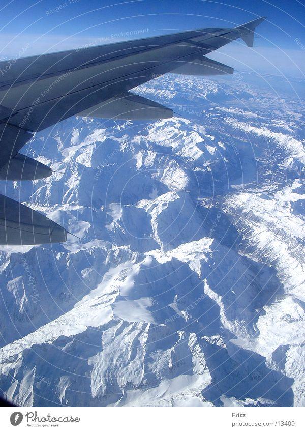 berge-von-oben Schnee Berge u. Gebirge Luftverkehr Alpen