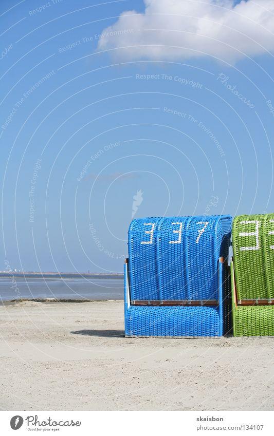 begehrte strandplätze Wasser Meer grün blau Sommer Freude Strand Ferien & Urlaub & Reisen Erholung Wärme Sand Zusammensein Beleuchtung Küste Gesundheit Deutschland