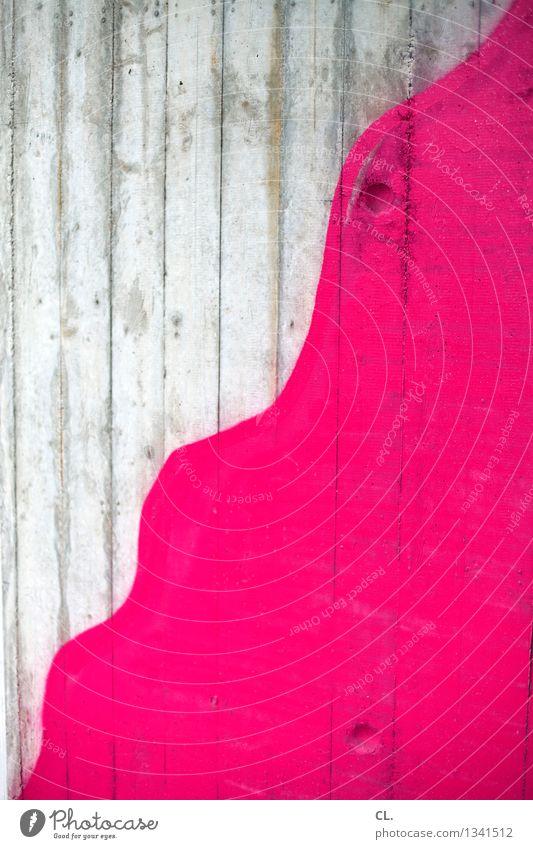 pink Farbe Wand Graffiti Mauer rosa Kreativität malen Inspiration Farben und Lacke wellig