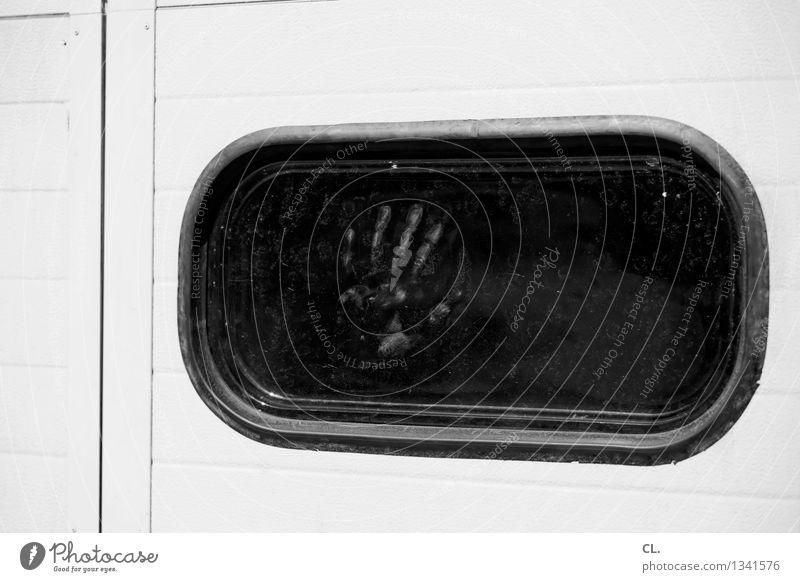 spuren Mensch Hand Einsamkeit Fenster Angst gefährlich Finger bedrohlich Vergänglichkeit geheimnisvoll Platzangst gruselig Identität