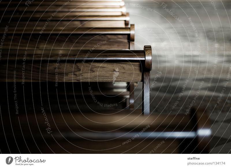 AIRWOLF ruhig Gebet Holz Holzbank Sitzgelegenheit Religion & Glaube Erkenntnis Gotteshäuser Moral andächtig silent Bank Kirchbank