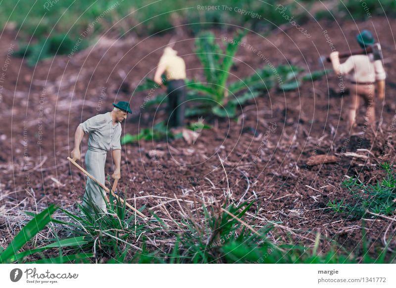 Miniwelten - Gartenarbeit II Modellbau Modelleisenbahn Arbeit & Erwerbstätigkeit Gärtner Feldarbeit Gartenbau Landwirtschaft Forstwirtschaft Mensch maskulin