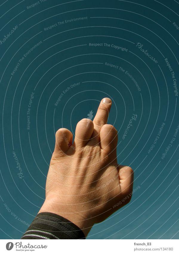 Nonverbale Kommunikation Mensch Himmel Hand ruhig dunkel sprechen grau Finger Streifen Zeichen Gastronomie Hemd Wut dumm zeigen Gesichtsausdruck