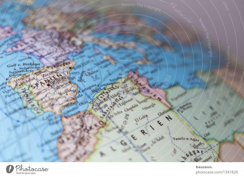 globus. Ferien & Urlaub & Reisen Tourismus Europa Afrika Linie Globus Horizont Perspektive Politik & Staat Wandel & Veränderung Erde Farbfoto Nahaufnahme