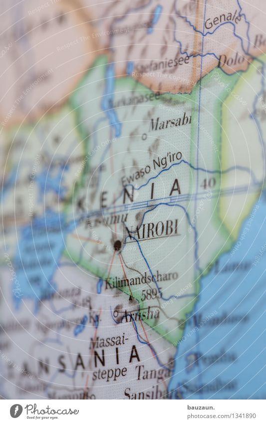 kenia. Ferien & Urlaub & Reisen Ferne Freiheit Linie Erde Tourismus Ausflug Abenteuer Wandel & Veränderung Hauptstadt Afrika Globus Sightseeing Städtereise