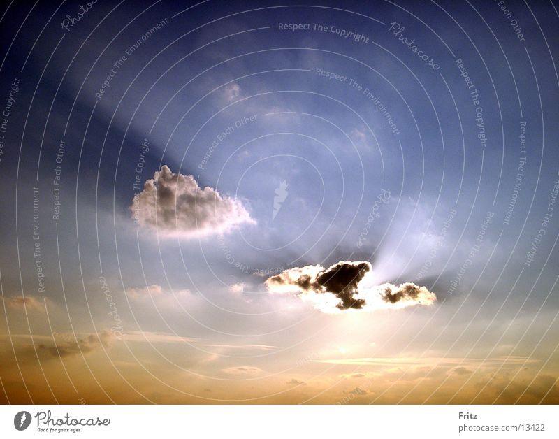 himmel-wolke-sonne Himmel Sonne Wolken Abenddämmerung