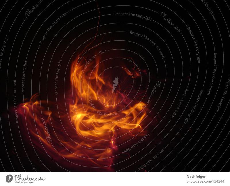 LighttheFire brennen Nacht dunkel Licht Physik Feuer Brand Flamme Wärme