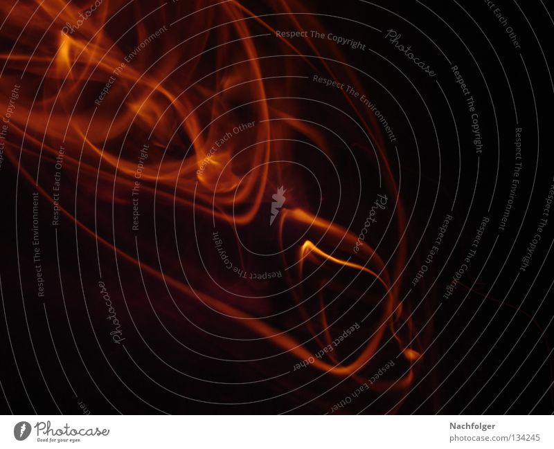 Fire dunkel Wärme Brand Feuer Physik brennen glühen