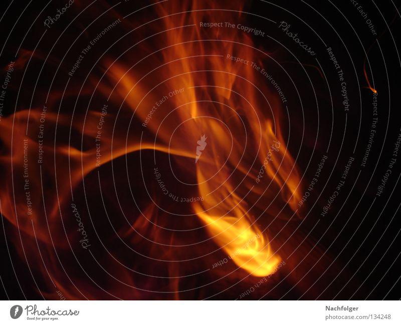 Burn Baby Burn brennen Holz Physik rot Nacht dunkel Feuer Brand Wärme flommen