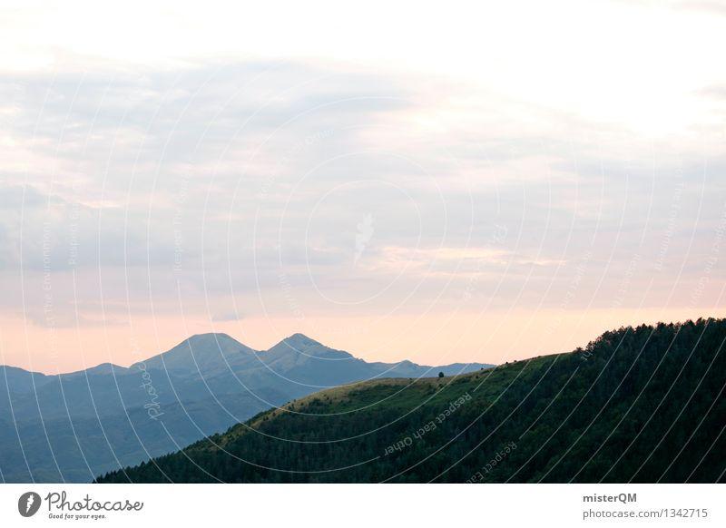 Berge. Umwelt Natur Landschaft Zufriedenheit Berge u. Gebirge Sonnenuntergang Hügel Ferne Schottland Außenaufnahme Farbfoto mehrfarbig Experiment abstrakt