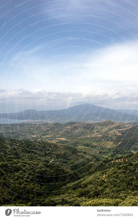 Berg, Land, Meer Ferien & Urlaub & Reisen Tourismus Sommer Sommerurlaub Berge u. Gebirge Umwelt Natur Landschaft Wolken Schönes Wetter Wald Hügel Küste Cilento