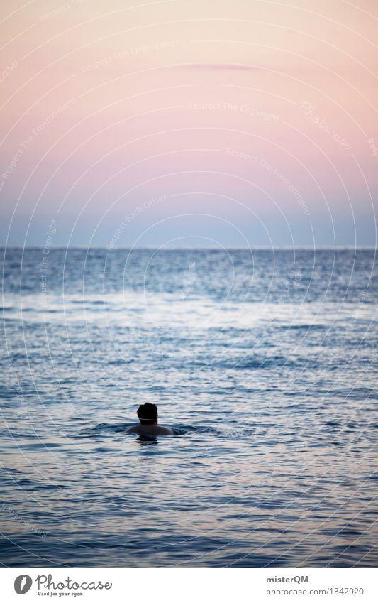 Typ. Kunst ästhetisch Schwimmen & Baden Freiheit Ferne Unbeschwertheit Meer Mittelmeer Erholung Wellness Ferien & Urlaub & Reisen Urlaubsfoto Urlaubsstimmung