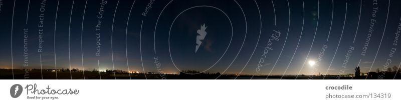 sternenhimmel panorma 360° Himmel schön Baum Sonne Einsamkeit Wolken dunkel Beleuchtung klein See Feld Nebel Erde groß Stern Frieden