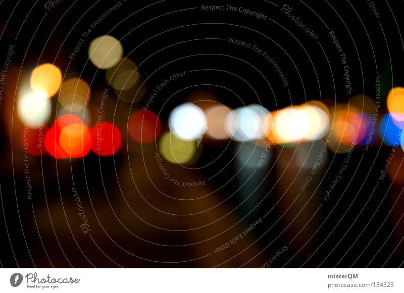 Big City Life. I Licht dunkel Zukunft verrückt schwarz Kunst Composing Nacht außerirdisch Spielen Langeweile Hintergrundbild Vordergrund Insekt erleuchten Lampe