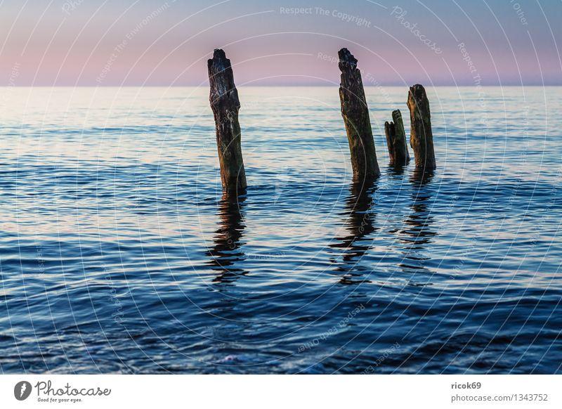 Ostseeküste Ferien & Urlaub & Reisen Strand Meer Natur Landschaft Wasser Wolken Küste alt blau Romantik Idylle ruhig Tourismus Buhne Mecklenburg-Vorpommern Buk