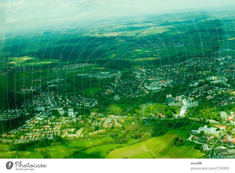 Luftaufnahme 1 - Schräglage Himmel Stadt Haus Freiheit Landschaft Deutschland Dorf Luftaufnahme