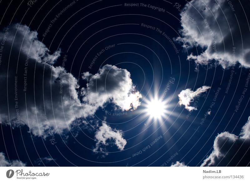 Lets the sun shining Himmel Sonne blau Sommer Wolken